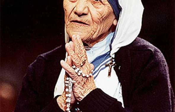 Radhanath Swami and Mother Theresa